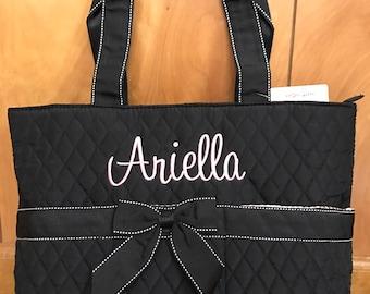 Monogrammed Quilted Diaper Bag-Diaper Bag-Monogrammed Diaper Bag-Baby Shower Gift-Newborn Gift-Personalized Diaper Bag-Gift for Her