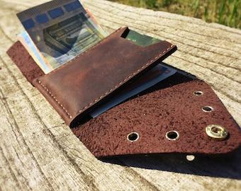 Minimalist wallet Mens wallet Mens trifold wallet Beard wallet Designed wallet man Trucker wallet Brown slim wallet Minimalistic wallet