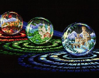 """Counted Cross Stitch Kit """"Make Your Own Hands"""" - """"Spheres of Desires"""""""