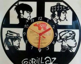 Gorillaz themed Record clock