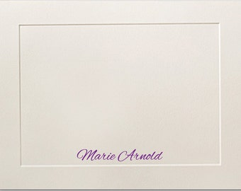 Embossed Panel Personalized Flat Note Cards, Personalized Stationery, Premium Paper, Thank You Cards, Personalized Notecards, Stationary Set