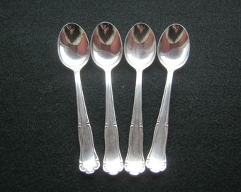 4 piece demitasse spoon silver 800 stamped + Punze Crown, ca. 1965, clean country Uddin, condition good