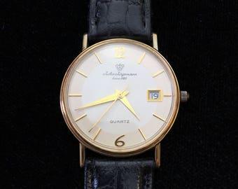 Vintage 14kt Jules Jurgensen Quartz Wrist Watch