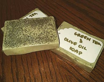 Green Tea & Olive Oil Goats Milk Soap