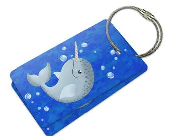 Gnarly Narwhal Suitcase Bag Id Luggage Tag Set