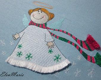 Christmas angel-fringe - MACHINE EMBROIDERY DESIGN