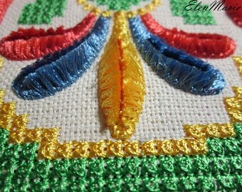 Ornament Velvet cross-stitch - Machine Embroidery Design