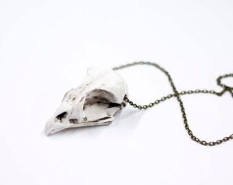 Crow skull neckchain replica