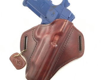 SIG 1911 with rails - Handcrafted Leather Pistol Holster