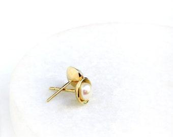 Pearly Earrings | 14k Gold