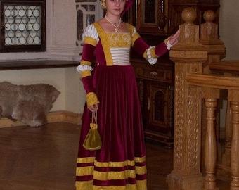 German dress of XV-XVI centuries - Medieval Dress - Renaissance Dress - Medieval Gown - Costume - Renaissance Clothing - Larp SCA dress