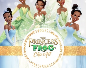 The Princess and the Frog clipart, Princess Tiana clipart, The Frog Prince clipart, Princess Tiana clip art, Princess clipart
