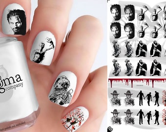 Walking Dead Nail Decals - Large (Set of 38)