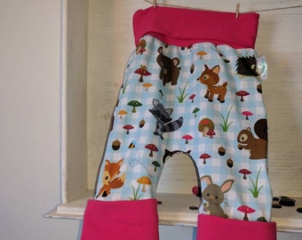 Scalable/girl/animal shorts pink, 6-36 months