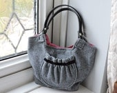 Handmade One Of A Kind Herringbone Tweed Handbag