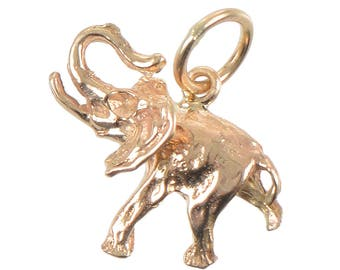 14KT Gold Elephant Charm/Pendant