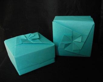 Light Turquoise Origami Box