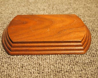 """Stand- 3 PACK - Display Stand - Project Base - American Black Walnut - 4-7/8""""x 3-7/8 x 3/4"""""""