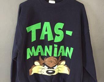 Tasmanian Devil Looney Tunes Crewneck Sweatshirt Vintage 90s