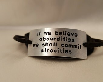 Atheist Humanist Skeptic Bracelet with Voltaire