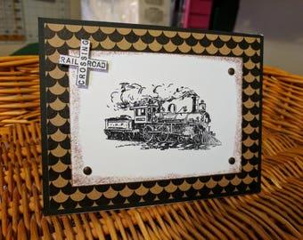 Railroad Crossing Card