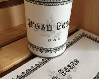 Green Beans Labels