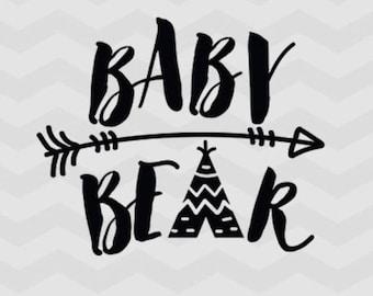 Baby Bear T-Shirt, Bear Family, Baby shirt, Baby Tee