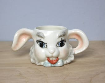 Vintage Ceramic Bunny Rabbit Mug