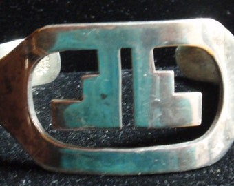 Sterling Signed Mexican Taxco Cuff Bracelet