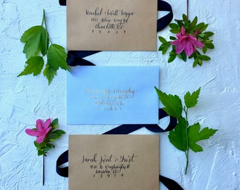 The Lucy | Addressed Wedding Invitation | Addressed Invite | Elegant Wedding Invitation