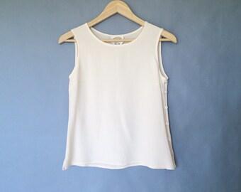 Vintage 100% silk tank top sleeveless size S/M