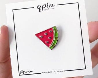 Watermelon Enamel Pin - Watermelon Brooch