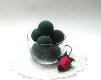 Black Bath Bombs - Set of 6 - Activated Charcoal - Mini Bath Bombs - Bath Fizzy - Gothic Bath Bomb - Handmade Bath Bomb - Bff Gift