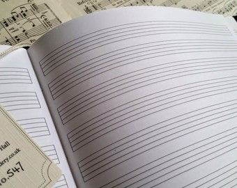 Leather music journal, Musician Gift, Music composition book, Music stave notation book, Musician gift, Composer gift