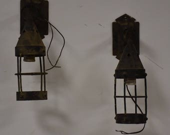 Arts and Crafts Wall Sconces- A Pair