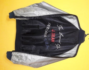 Vintage 90's jacket embroided The legendary of James Dean Large size