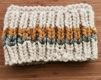 Hand made Boys Girls Toddler Knit Cowl Scarf