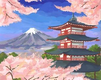 Original Tokyo Mt Fuji painting