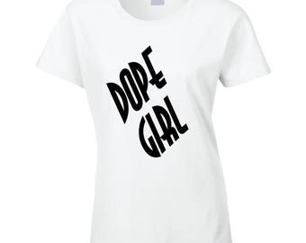 Dope Girls Rock Ladies Fitted T Shirt