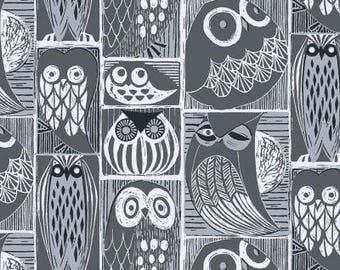 Dear Stella Blue Moon, Owls Orion, Blue , Woodland Quilt,  Animal Quilt, Baby Quilt, Modern Quilt, Modern Fabric