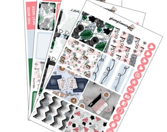 Blogger Girl - planner sticker kit for Erin Condren life planner