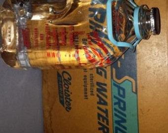 Vintage Cloister Spring Water Box and Bottles (5) - SKU 1455