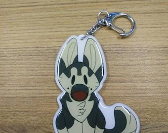 Plush Pup series 1 : German Shepherd acrylic keychain