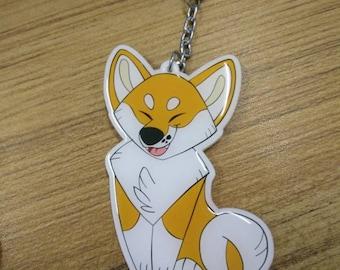 Plush Pup series 1 : Shiba Inu acrylic keychain