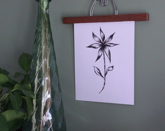 Wood + Metal hanger for prints and photo display