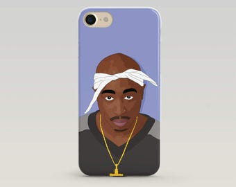 Tupac Phone Case, Tupac Art, Iphone 6 Case, Iphone 7 Case, Iphone Case, Case Iphone, Popculture, Gift for teenager, Gifts for teen,