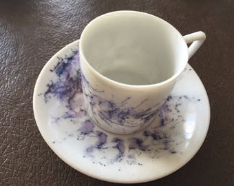 Vintage Hand Painted Demitasse Cups ( 5 )  REDUCED SHIPPING