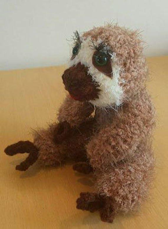 Loom Knit Sloth Pattern From Loomanek On Etsy Studio