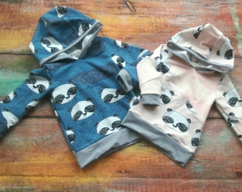 Matching Hoodies in Blue or Pink for Kids (3 months - 14 years)