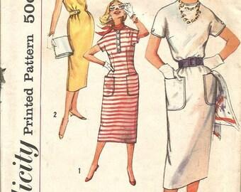 Vintage Simplicity Misses sz 18 One Piece Dress pattern 2454